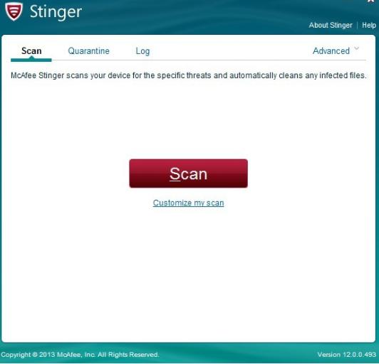 تحميل برنامج McAfee Stinger للحماية من الفيروسات